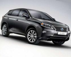 Цены на Lexus RX 270, RX 350 и RX 450h 2013 в России