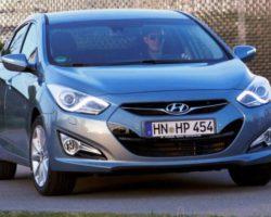 Цена седана Hyundai i40 2012 в новой комплектации Base